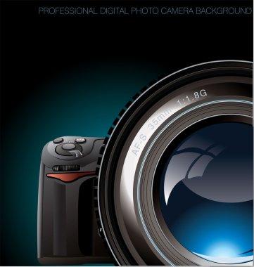 Professional digital photo camera background