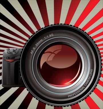 Professional camera - Retro background
