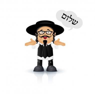 Jewish - Orthodox vector illustration for you design and animation stock vector