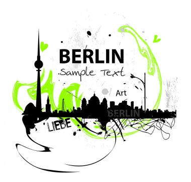 Art skyline of Berlin