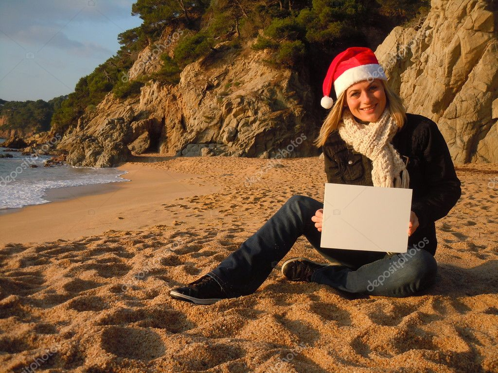 Christmas beach advertisiment