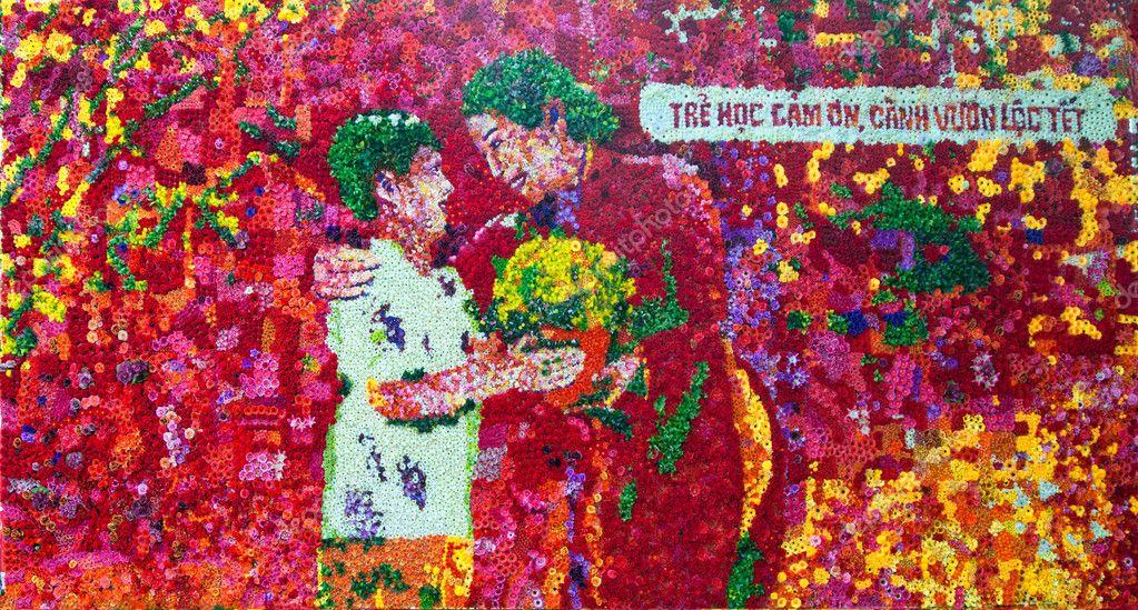 Flower arranged picture in Vietnam