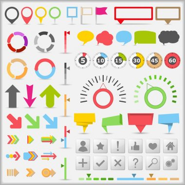 Set of different infographic elements, vector eps10 illustration stock vector
