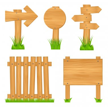 Set of wooden objects