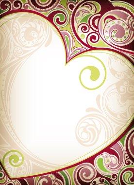Vintage heart background illustration clip art vector