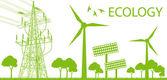 Fényképek Alternatív energia generátor zöld vector háttér a szél