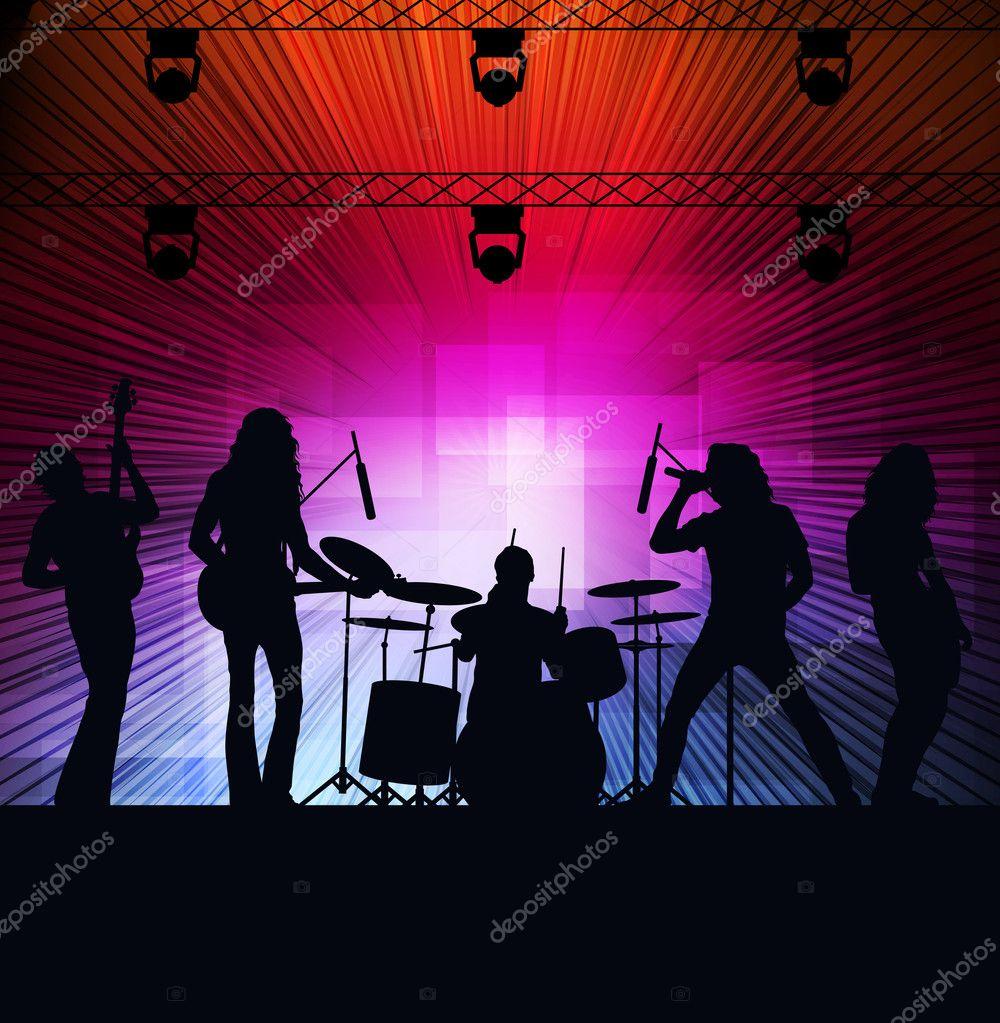 Pics photos rock concert background - Rock Concert Landscape Background Illustration Stock Vector 8075767