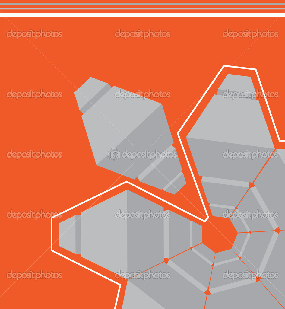 Poster design using 3d objects - Orange Abstract Vector Background With 3d Object For Poster Vector By K3studija
