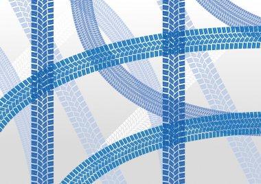 Winter tire tracks pattern illustration background
