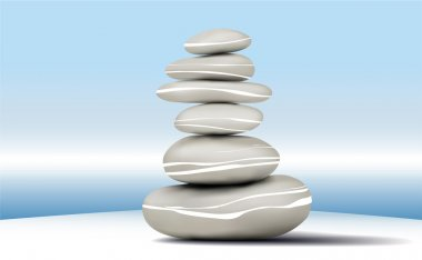 Stones stability Zen calm background