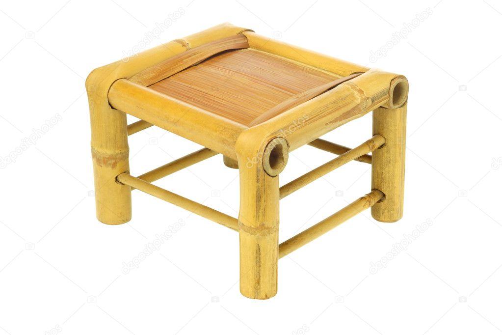 Sgabello di bambù cinese u foto stock design