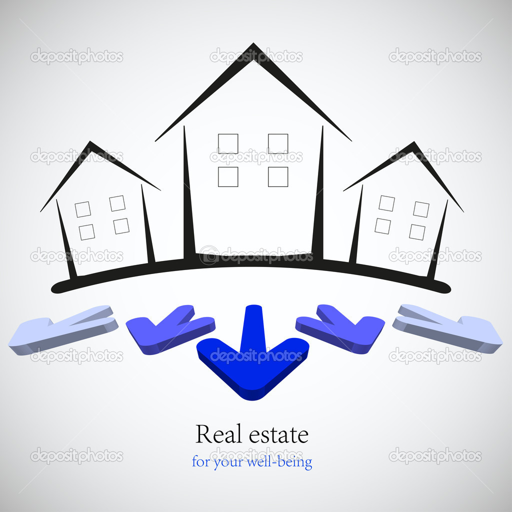 Concept real estate for your business. Vector illustration. Best choice