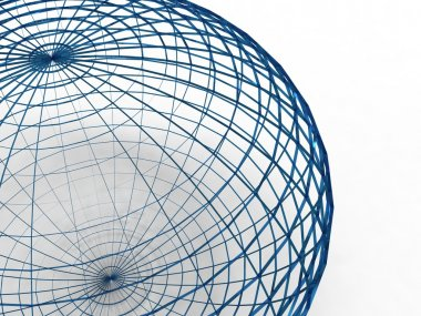 Blue wire sphere