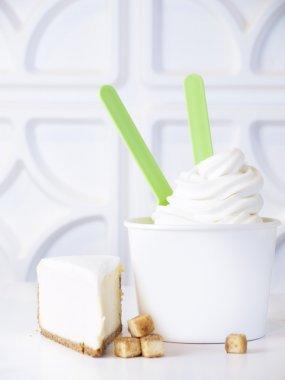 Frozen Soft Serve Yogurt.