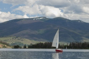 Sailboats on Mountain Lake
