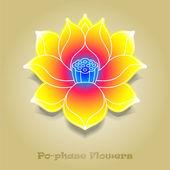 Fotografie chinesische virtuelle po-Phase Blumen: Lotus, Paeonia Suffruticosa, ch