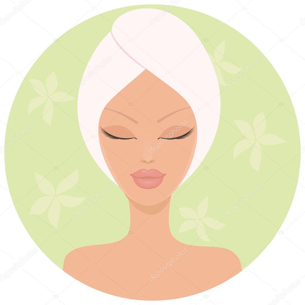Girl Face Logo Design