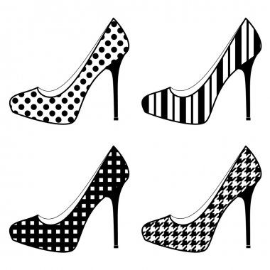 Shoes in Black and White