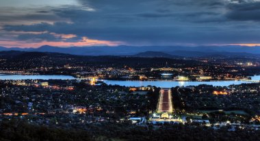 Canberra a sunset