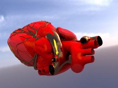 Model of artificial human heart