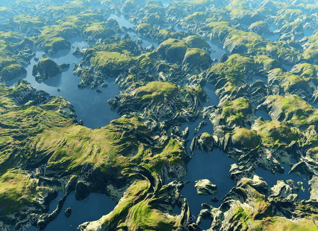 Amazon river bird's eye view