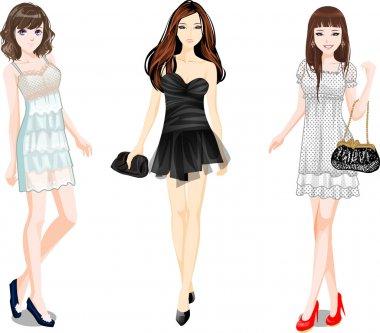 Three vector girls