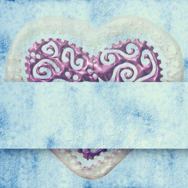 Blue love card