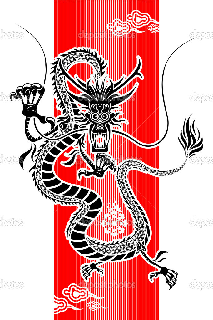 an illustration of chinese dragon new year useful as icon illustration and background for chinese new year theme vector by brancaescova