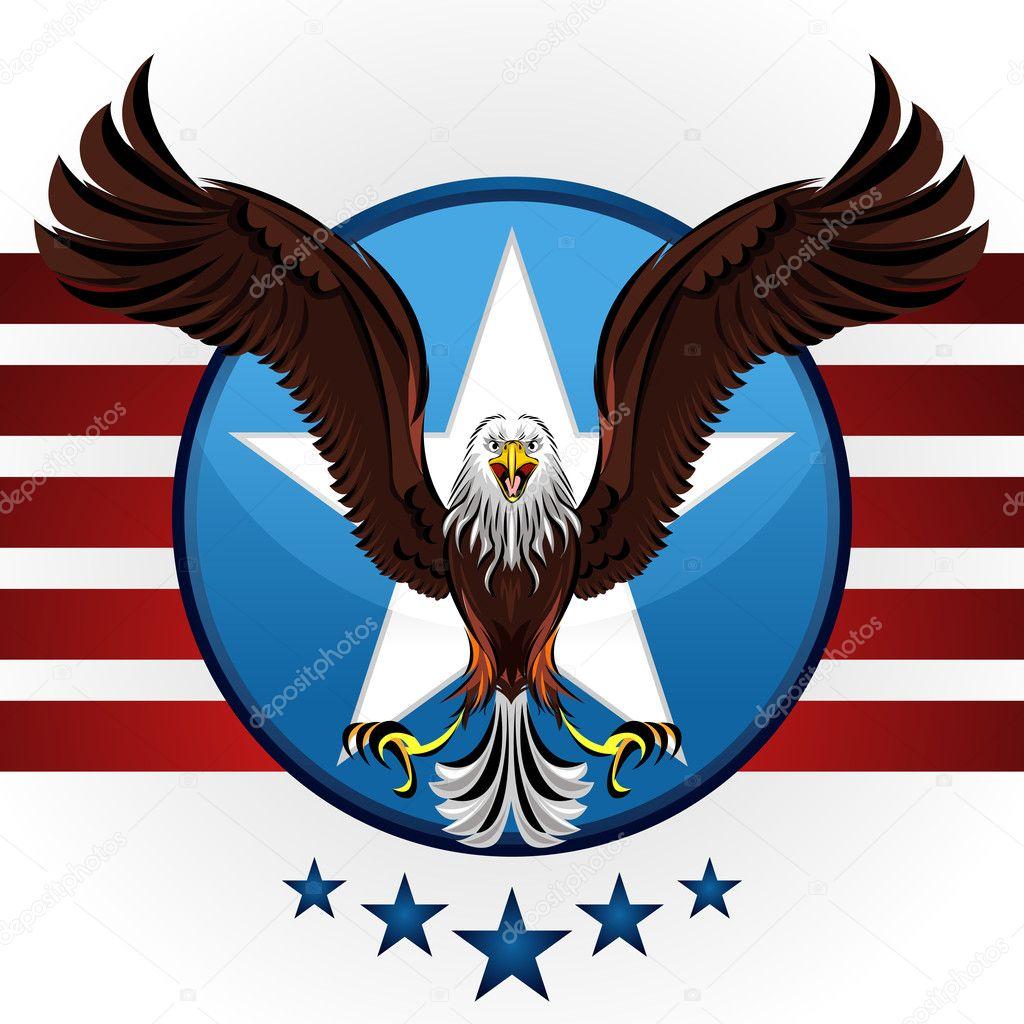 Aigle Americain A Tete Blanche Image Vectorielle Brancaescova