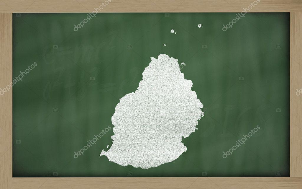 Outline map of mauritius on blackboard — Stock Photo © vepar5 #10111262
