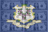 noi lo stato del connecticut bandiera con trasparente dollaro banconote io