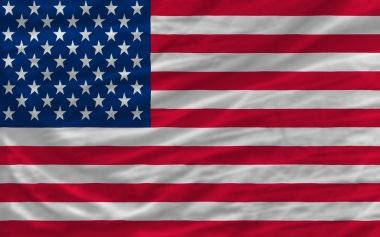 Complete waved national flag of america for background