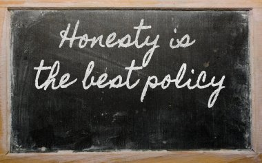 Expression - Honesty is the best policy - written on a school b