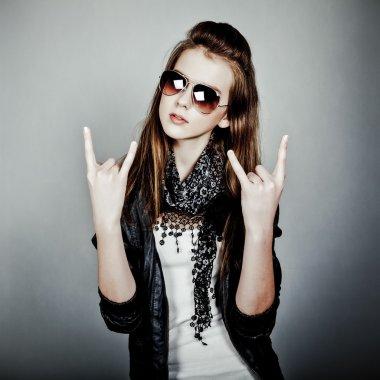 Teen girl rock