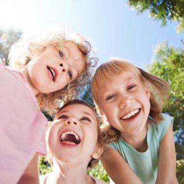 Happy children having fun