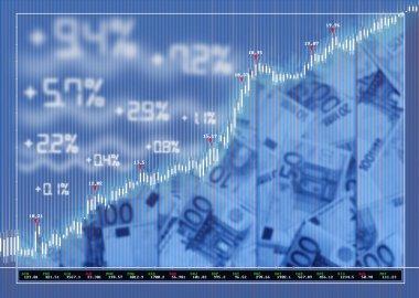 Stock exchange market background