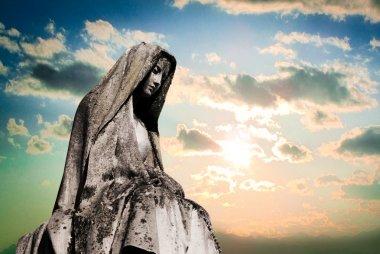 Virgin mary tombstone