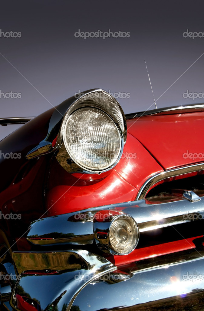 Red muscle car — Stock Photo © snehitdesign #7989916
