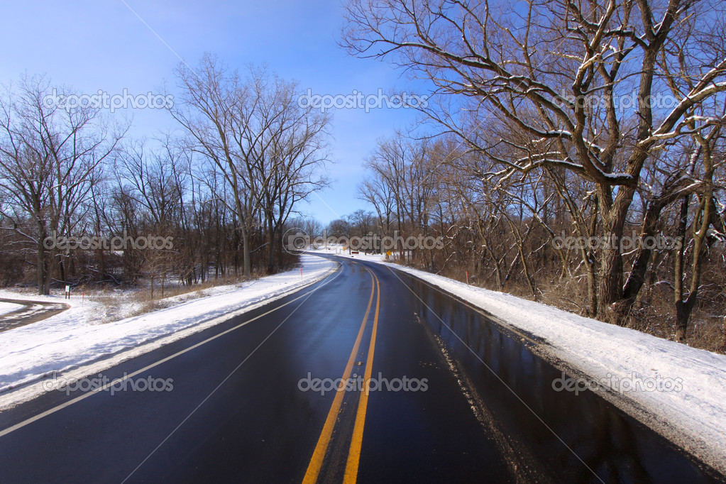 Scenic drive through a state park