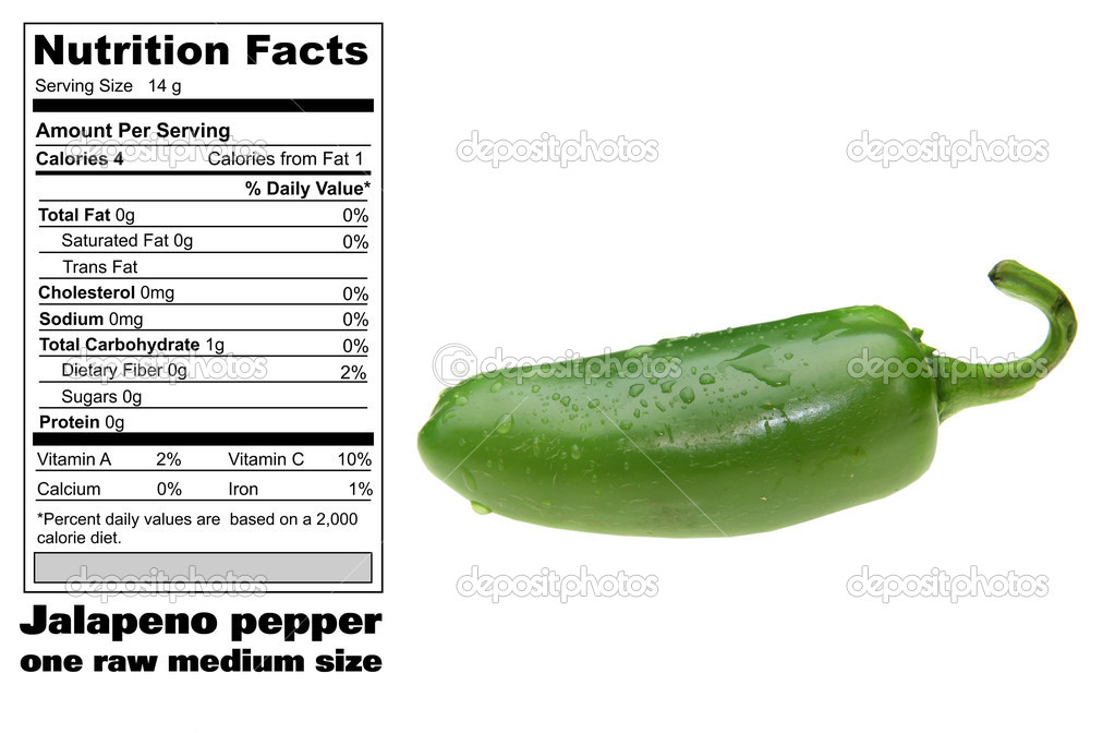 Nutritional Facts Of Jalapeno Stock Photo C Snehitdesign 8622900