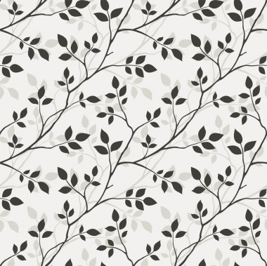 Pattern with leaves clip art vector