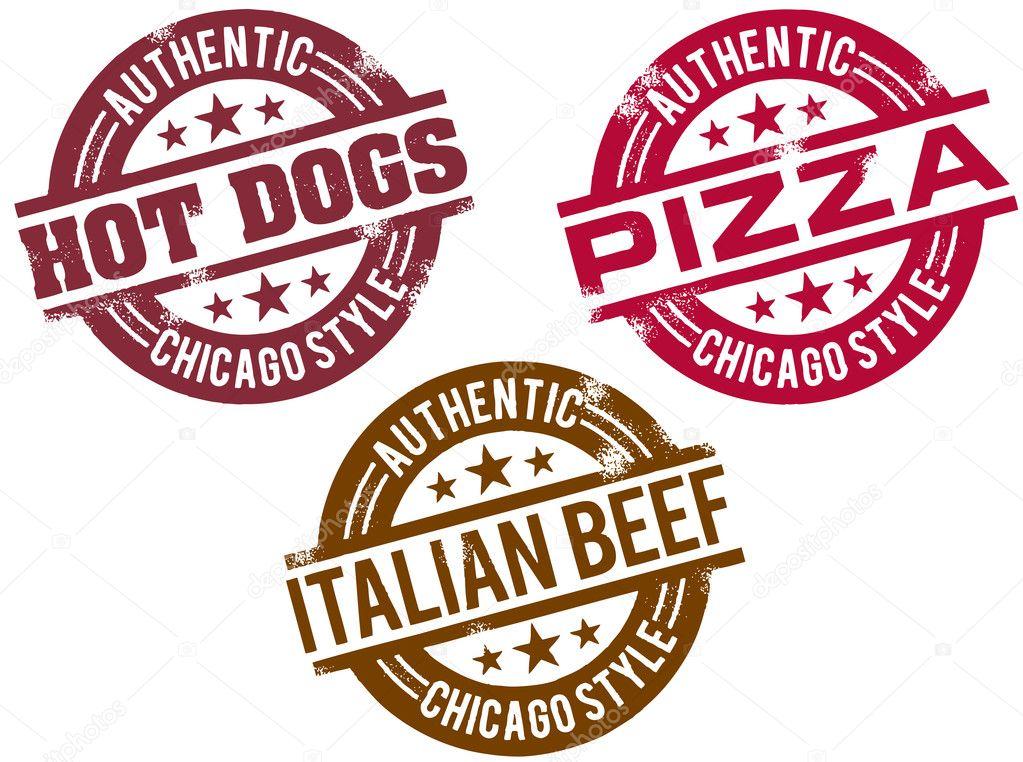 Chicago Food Stamps Stock Illustration