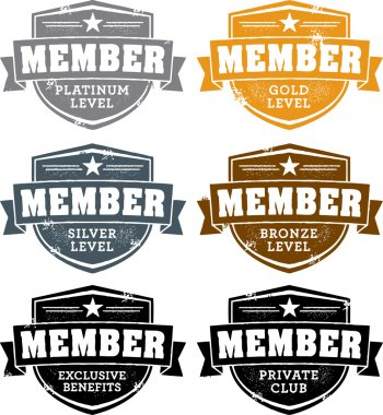 Vintage Membership Badges
