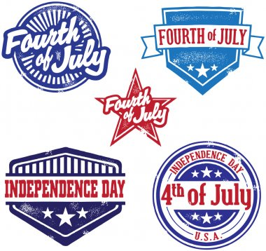 Fourth of July Independence Day Stamps