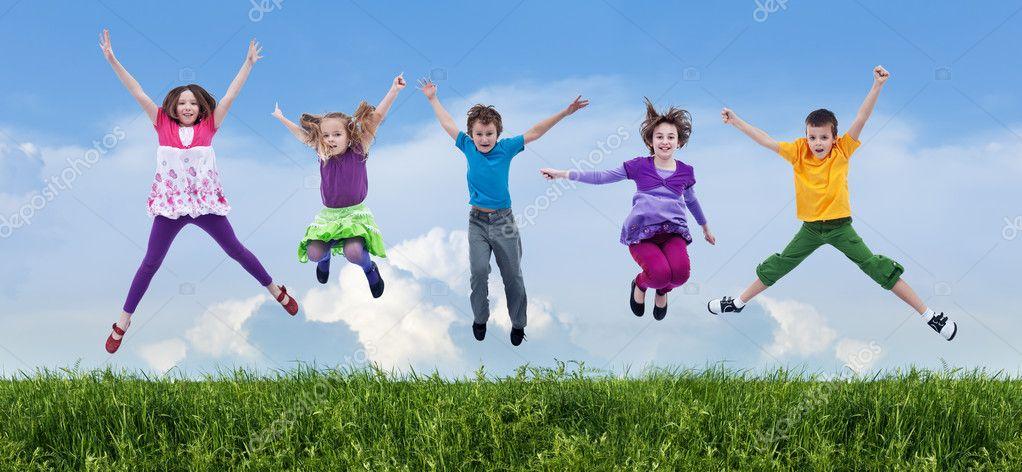 Happy spring jump