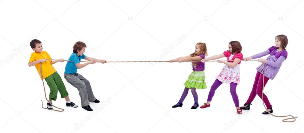 kids playing tug of war � stock photo 169 ilona75 9393476