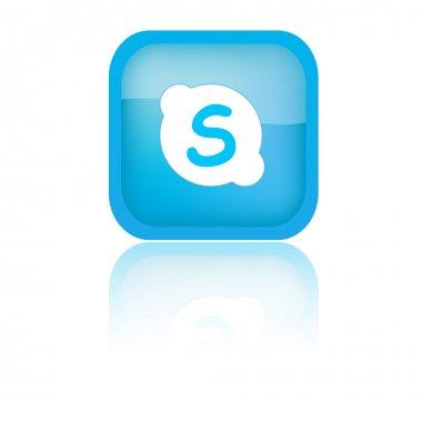 Blue Skype Icon