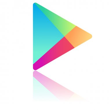 Icon Google play with reflection