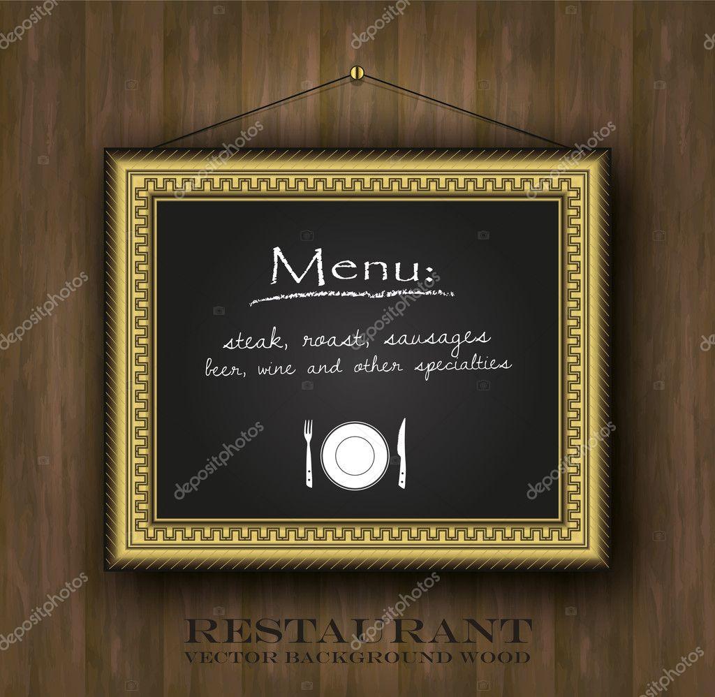 Vektor Tafel Rahmen gold Restaurant Menü Karte alte Rahmen ...