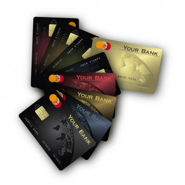 Vector Credit card fan vertical